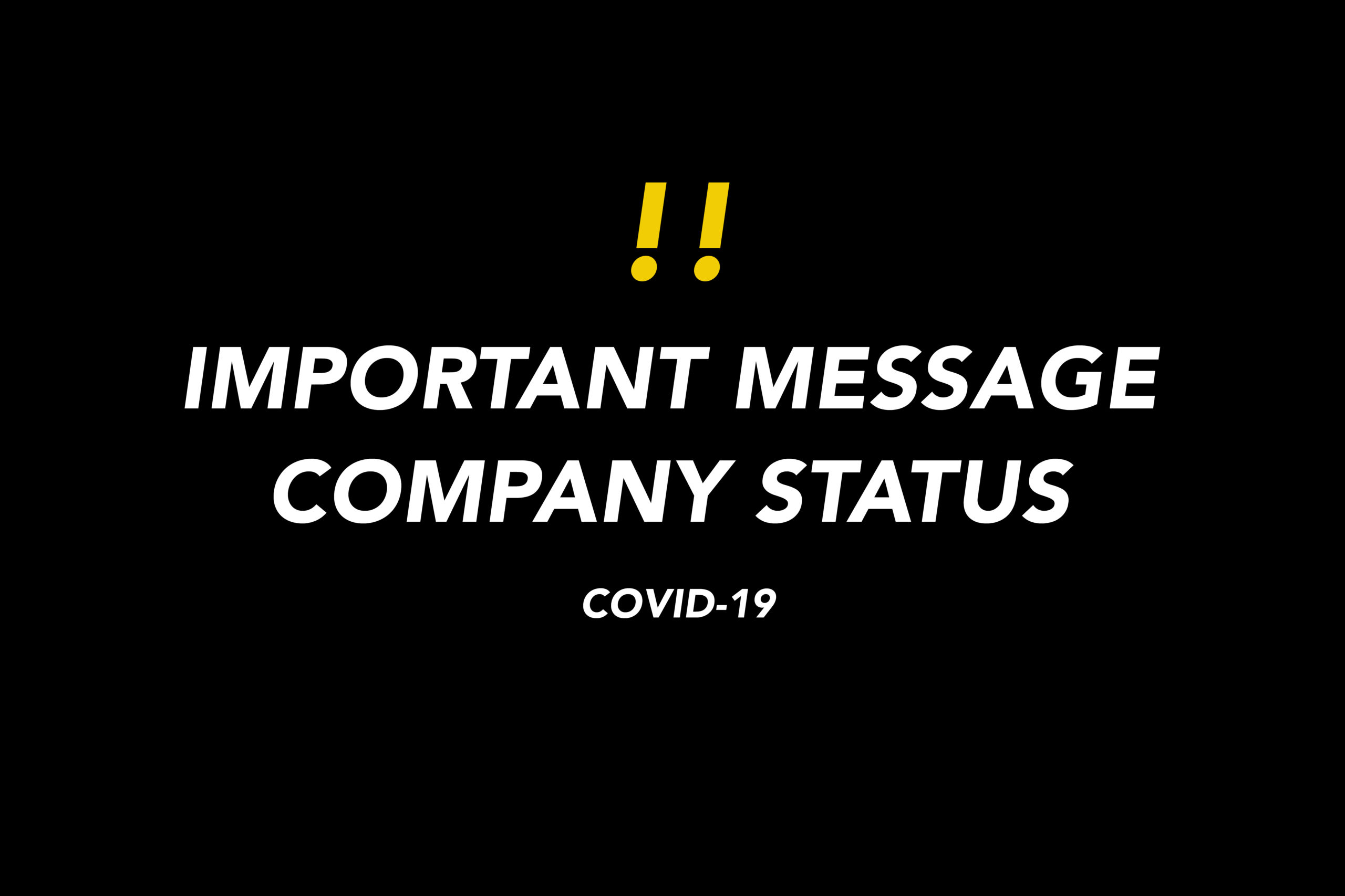AVIS IMPORTANT COVID-19