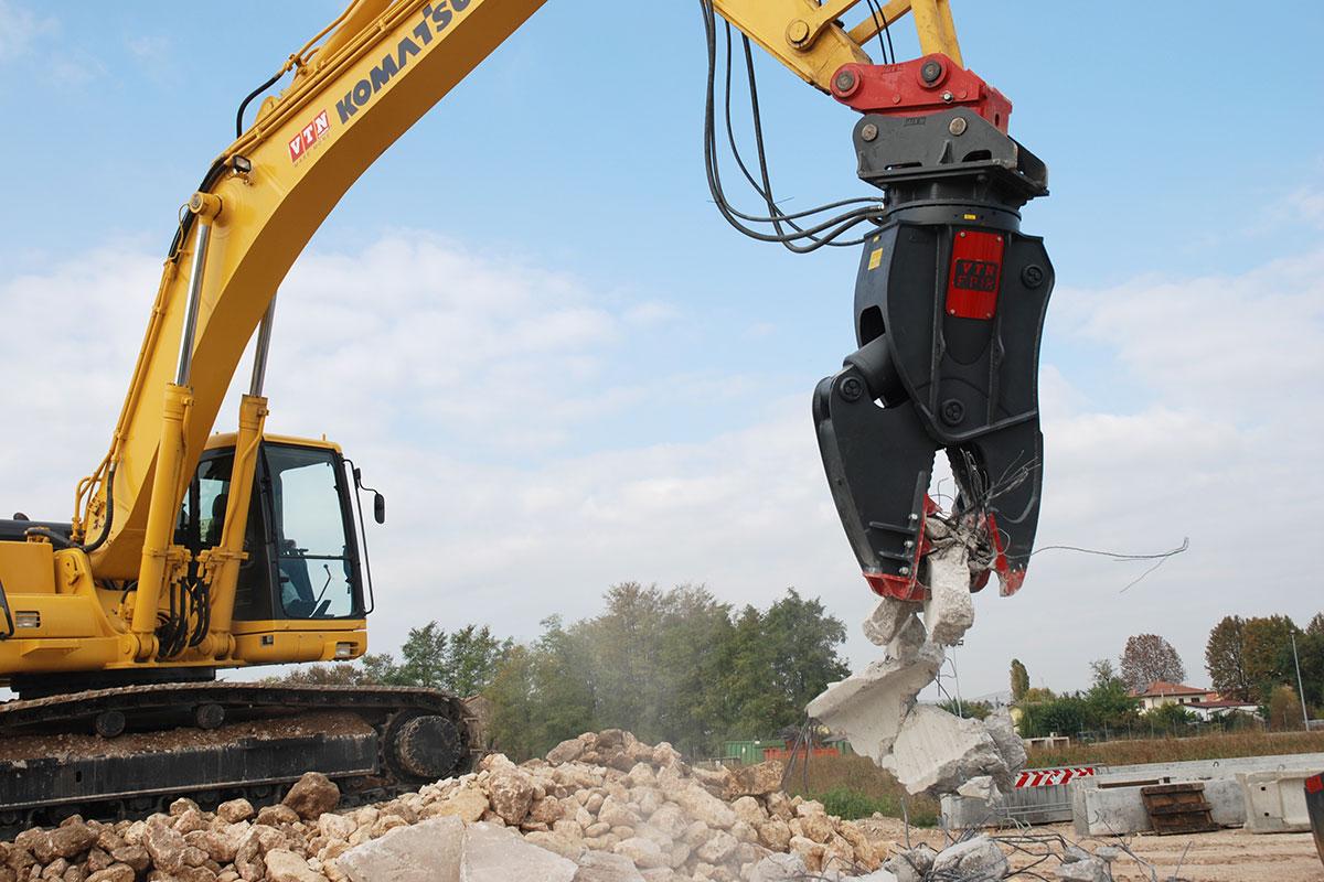 Frantumatori fissi e girevoli per la demolizione