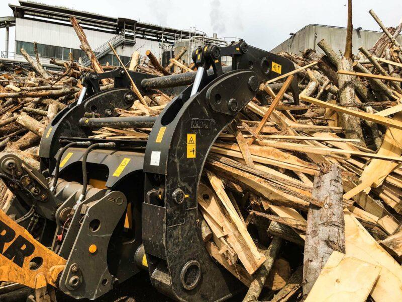 Horquilla de troncos para pala de carga